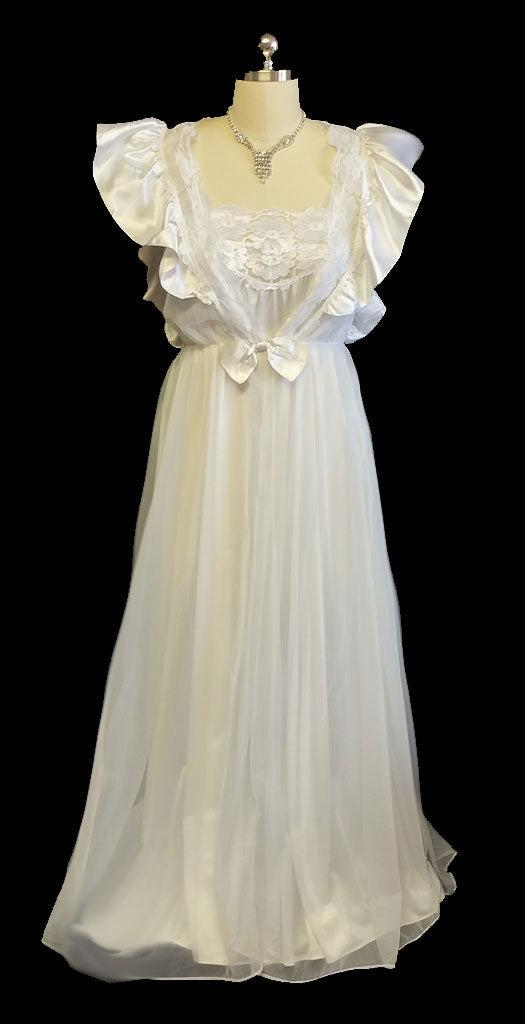 VINTAGE BRIDAL WEDDING NIGHT VAL MODE PEIGNOIR & NIGHTGOWN SET ...