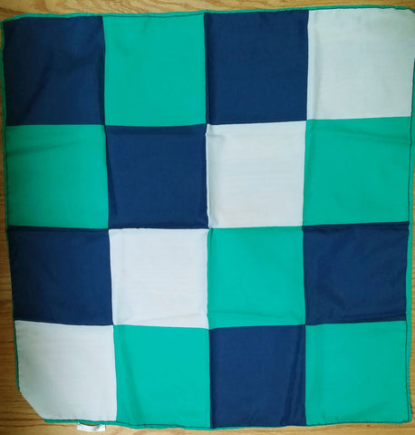 VINTAGE WISTEL T EMERALD, NAVY & WHITE SCARF MADE IN ITALY