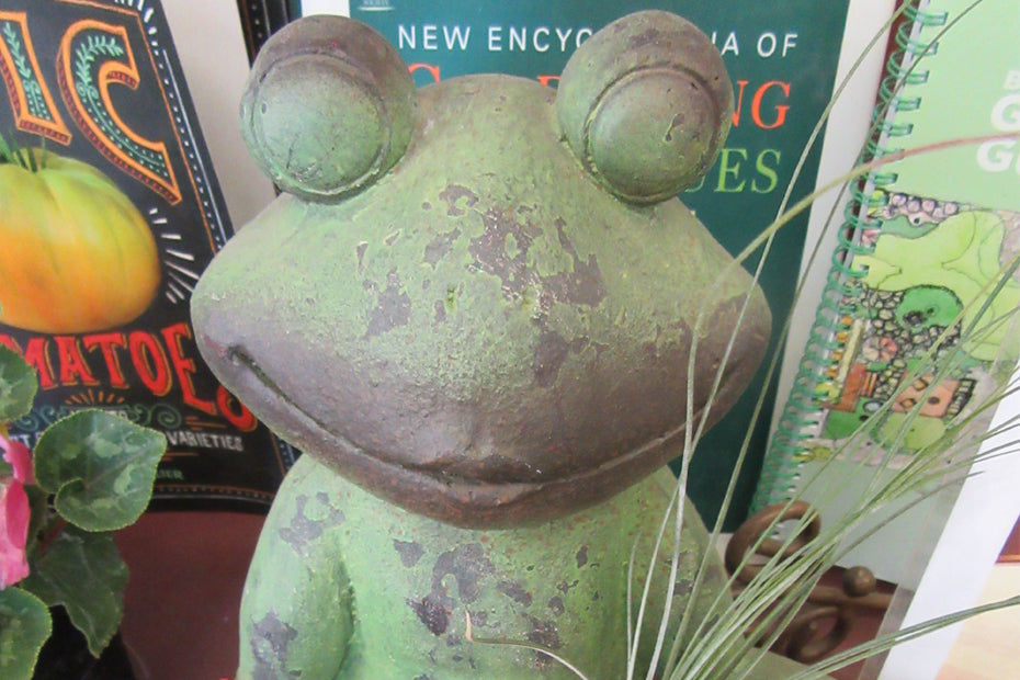 A wonderfully made frog statue.