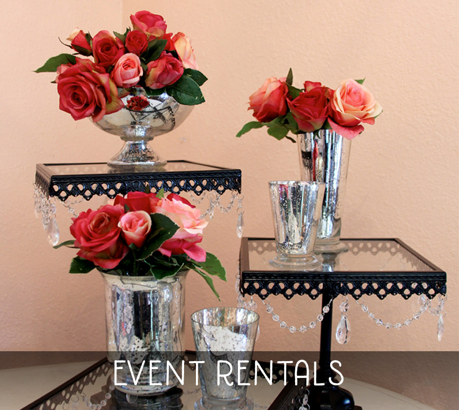 Flowers, vases, and table rentals