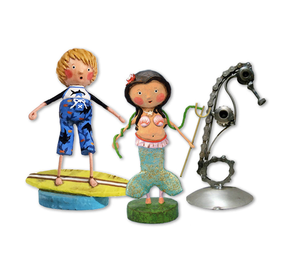 Figurines: polyresin and metal sculptures