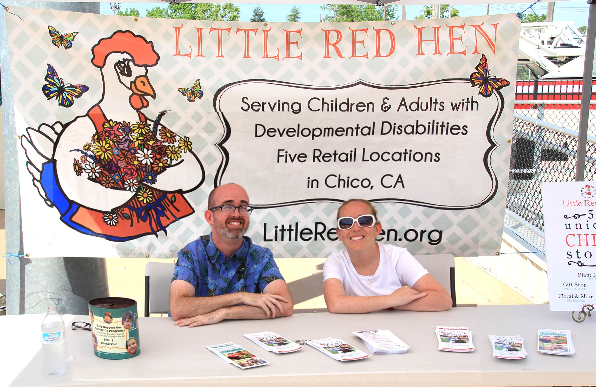 Little Red Hen Staff Members at an event booth