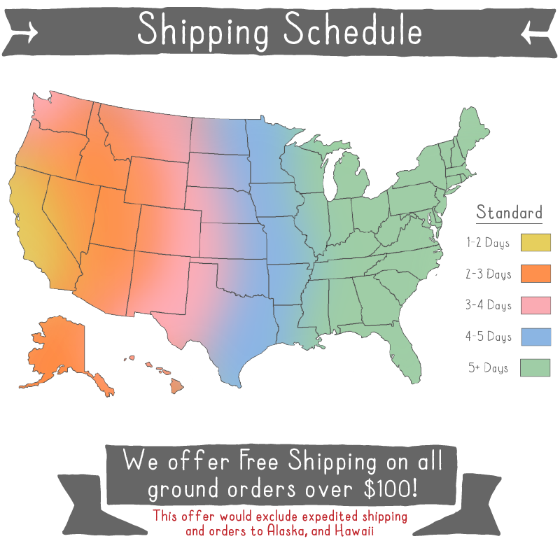 Shipping Rates Map