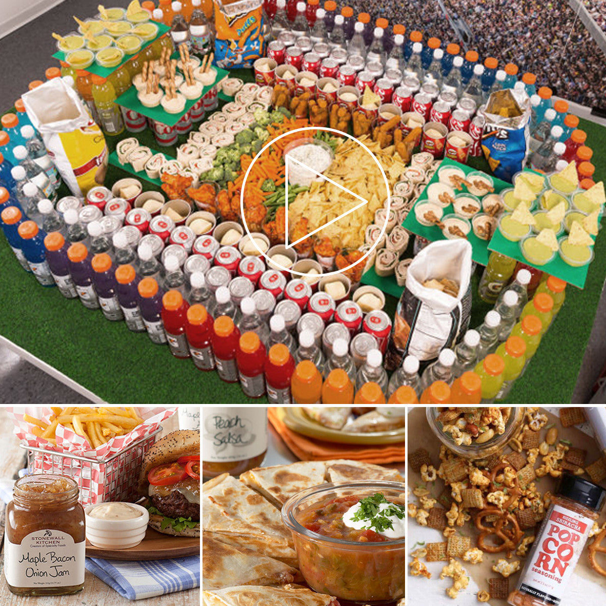 build your Snackadium with dips, mixes and goodies from the Kitchen Store