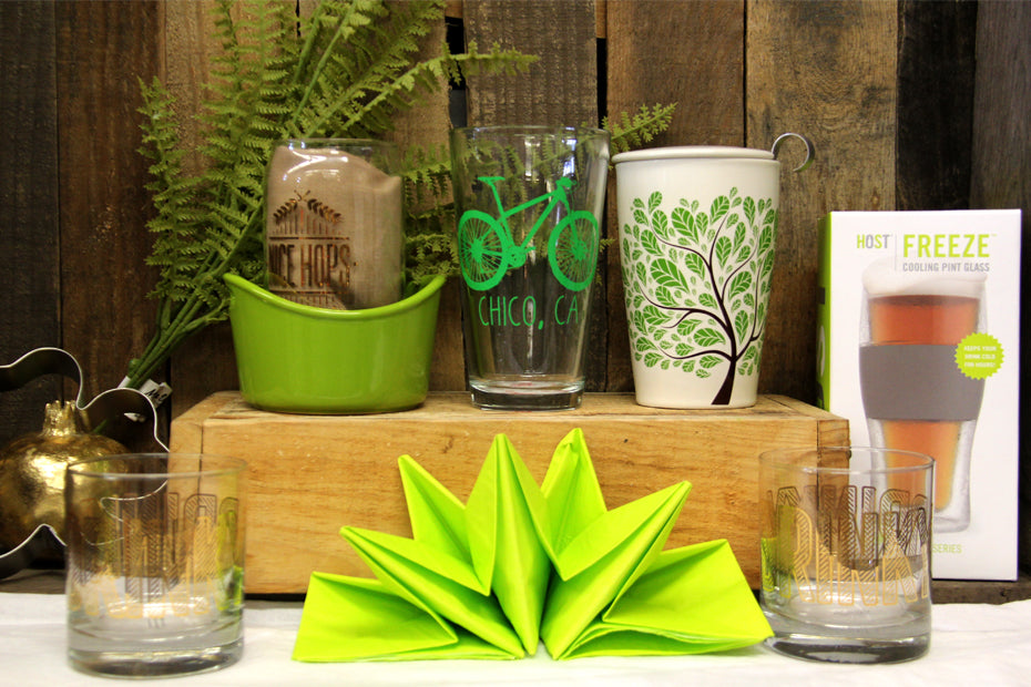 Assorted Drinking cups with pre-folded napkin