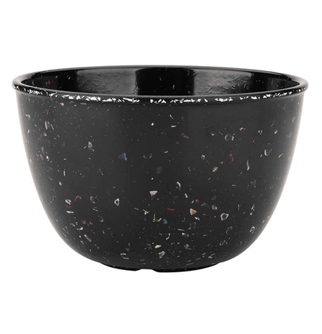 "The close-up of the ""Confetti"" soup bowl in black color."