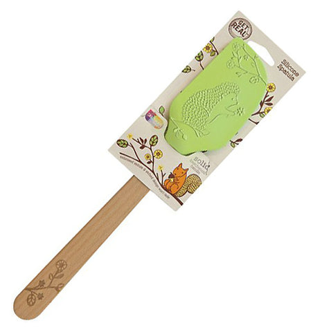"Little Red Hen-Talisman Designs-Solid Beechwood Silicone Spatula ""Woodland"""