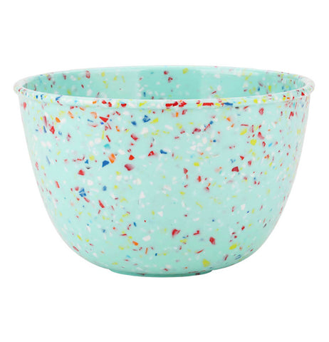 "The close-up of the ""Confetti"" Soup Bowl in color mint."