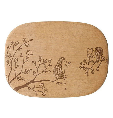 "Little Red Hen-Talisman Designs-Solid Beechwood Cheese Board, Medium ""Woodland, Hedgehog"""