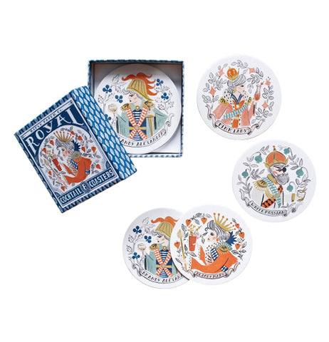 "Coasters (Set of 8) ""Royal Cocktail"""
