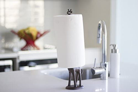 Cast Iron Giraffe Paper Towel Holder