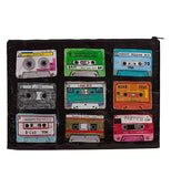 This shows the opposite side with different colored mix tapes.