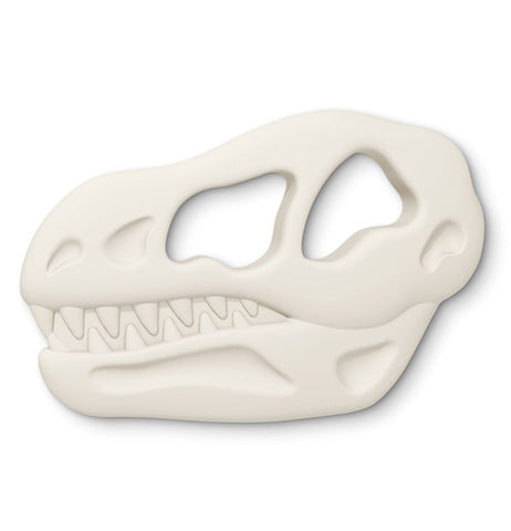 "The Chill Baby ""Teether Rex"" Teether is shaped like a Tyrannosaurus Rex skull."