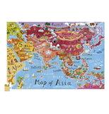 200 piece puzzle of Asia all put together.