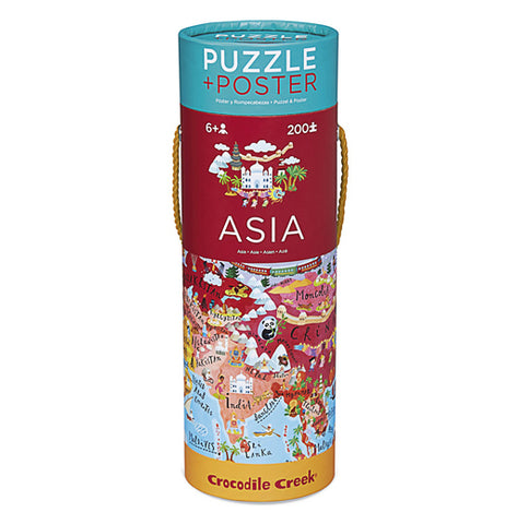 200 puzzle piece canister of Asia.