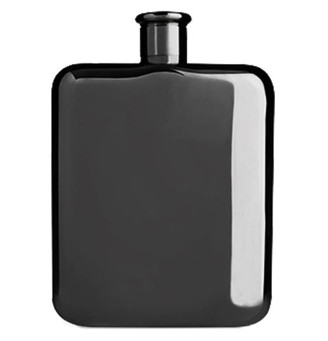 Black bottle in a shape of a rectangle to carry beverages