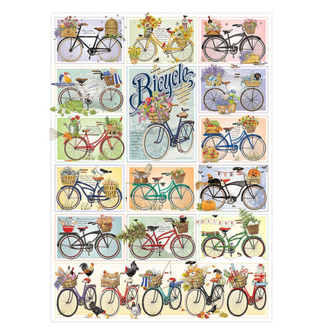 Bicycles 1000 Piece Puzzle