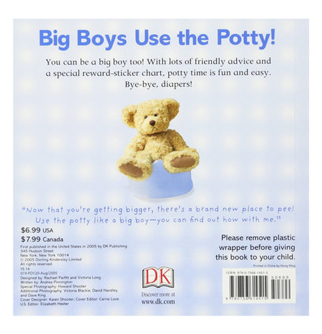 """Big Boys Use The Potty"" Paperboard Book"