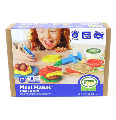 The Meal Maker Dough Set is packaged in a box.