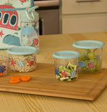 "Snack Containers, Large (Set of 2) ""Ocean"""