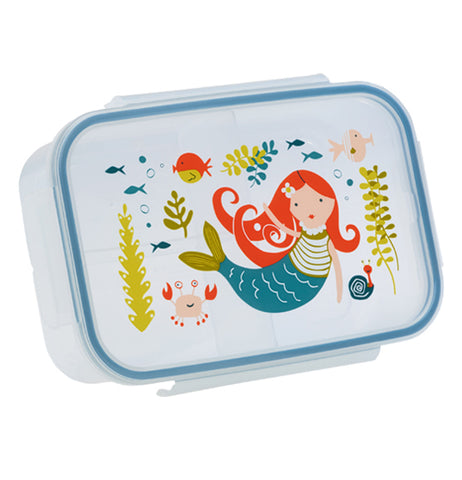 Isla the Mermaid Bento Box featuring Isla swimming under the sea with her sea creature companions on the lid.