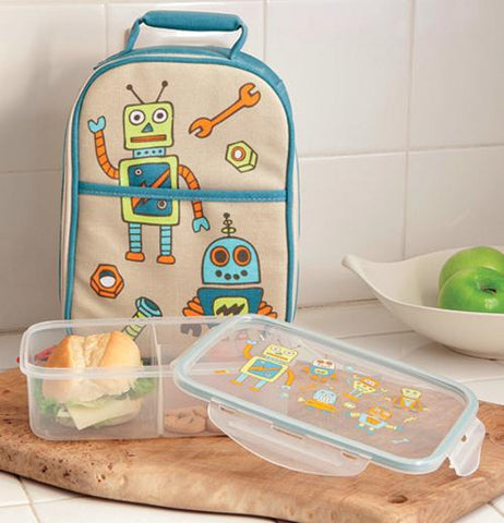 "Zippee! Lunch Tote ""Retro Robot"""