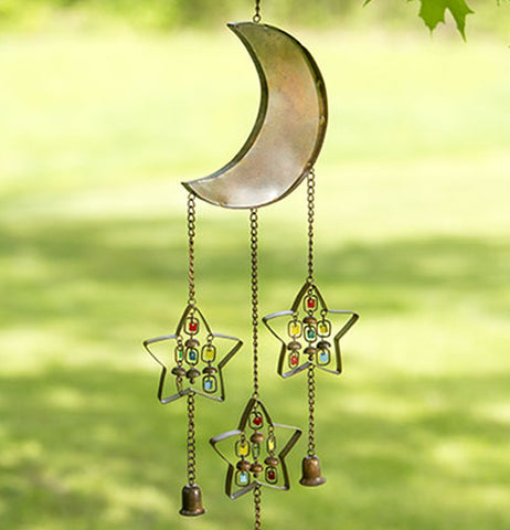 "Wind Chime ""Moon and Stars with Dangles"""