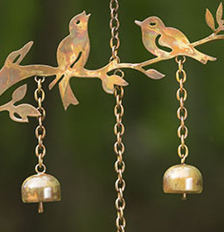"Wind Chime, Mobile ""Birds with Bells"""