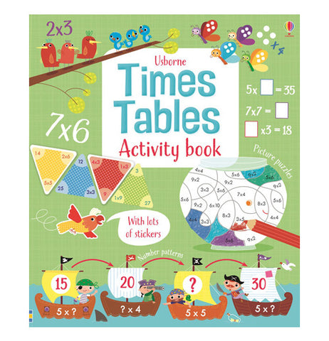 Kids learn times tables activity book