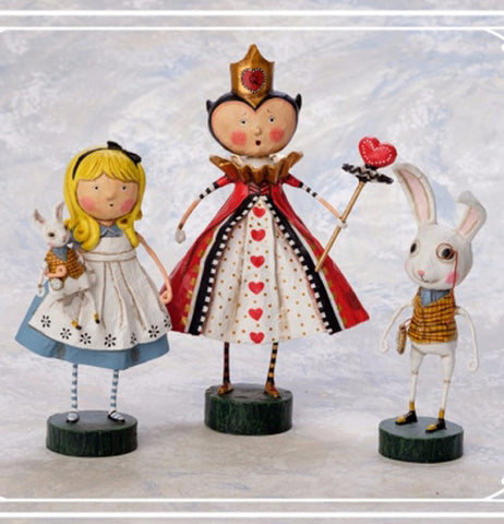 Alice the Queen of Hearts and the White Rabbit.