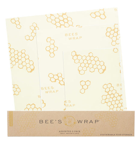 This Food Wrap is made from beeswax, organic cotton, organic jojoba oil, and tree resin, and made to wrap bread, cheese, or vegetables.