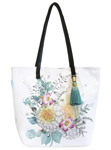 "Tote Bag, Bucket ""Sunrise Petals"""