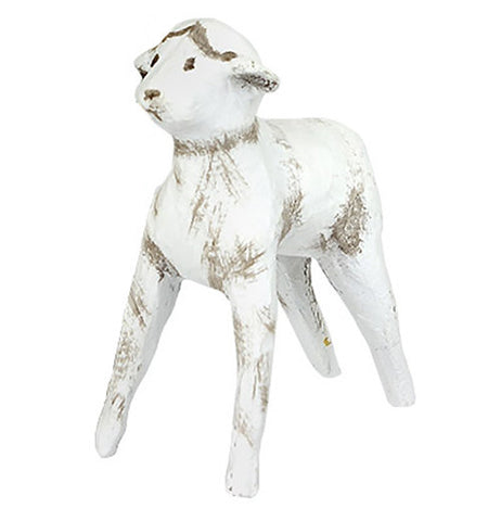 White Baby Sheep Nativity Scene Figurine