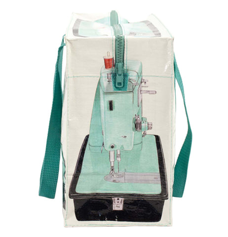 The cream colored tote shown from the front showing that the tote is printed from 4 angles