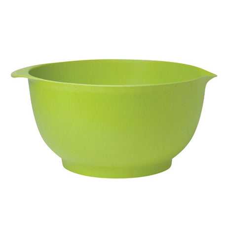 The large bowl is green.