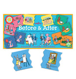 "These two title puzzles shows the rabbit painting before and after under the ""Before and After"" Educational Game set."