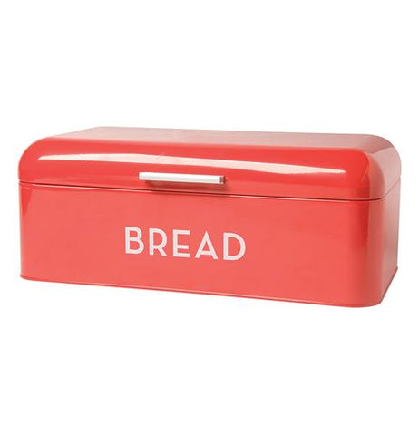 "Red Bread Box with the word ""Bread"" in White"