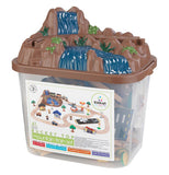 train set bucket with mountain and waterfall on lid