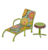 Vintage garden lounge set with chase lounge and table.
