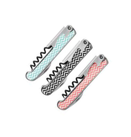 The turquoise, black, and pink striped corkscrews are all shown together.