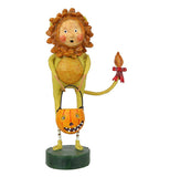 Cowardly Lion King Of The Jungle Figurine Holding A Trick Or Treat Container