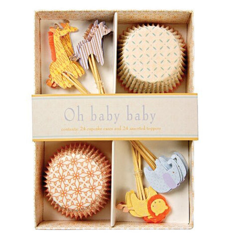 Cupcake kit with animal theme.