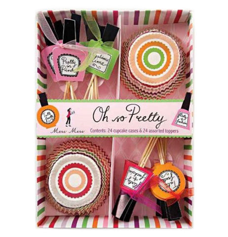 Cupcake kit finger nail polish theme.