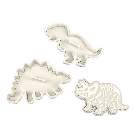 Dinosaur shaped cookie cutters.