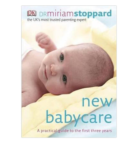 The front cover of New Babycare shows a picture of a baby laying on a yellow blanket.