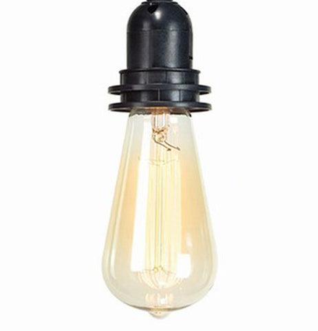 This vintage Edison bulb is shining bright and strong for restoring the old look..