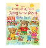 "The Dress the Teddy Bears ""Going to the Shops"" Sticker book with three bears at the market."