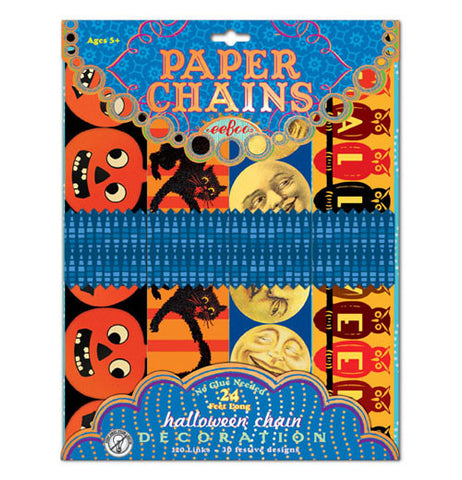 "The HIDDEN ""Halloween"" Paper Chains has 40 festive designs packaged in a box."
