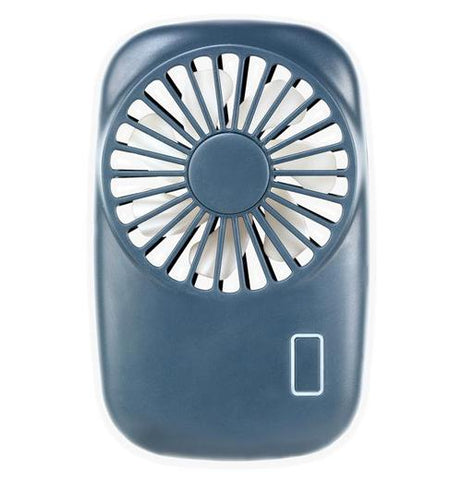 "The close-up ""Blue Pocket Tornado"" Fan is blue-colored that fits in the palm of your hand."