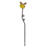 Mini garden firefly pick has yellow body with gold wings.